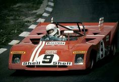 Clay Regazzoni / Brian Redman - Ferrari - Ferrari SpA S. - BOAC 1000 Kilometres World Championship Sports Car Race - Brands Hatch 1000 Kilometres - 1972 World Championship for Makes, round 4 Cool Sports Cars, Sports Car Racing, F1 Racing, Sport Cars, Road Race Car, Race Cars, Vintage Racing, Vintage Cars, Vintage Auto