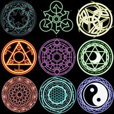 Online shopping for Fairy Tail with free worldwide shipping VT MA THUẬT 2 Magic Symbols, Ancient Symbols, Glyphs Symbols, Viking Symbols, Egyptian Symbols, Viking Runes, Spell Circle, Real Magic Spells, Magia Elemental