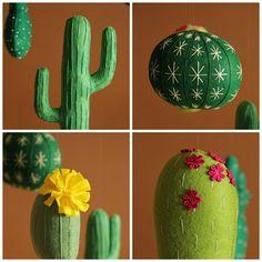 Bebé móvil verde vivero Cactus bebé vivero moderno móvil bebé