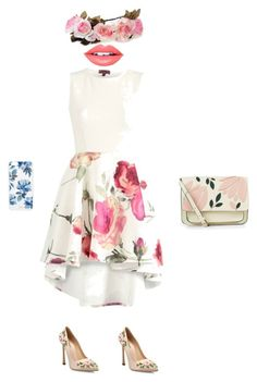 """""""The fashion of flowers"""" by mihaialexiamaria on Polyvore featuring Giambattista Valli, Accessorize, Sonix and Fiebiger"""