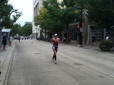 Wisconsin's Jackie Arendt on her way to winning the Ironman Wisconsin 2013 title.Team Timex.