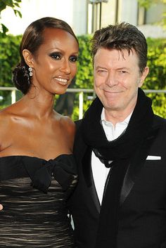 David Bowie and Iman, married since 1992. | 27 Celebrity Couples Who Prove Love Can Last A Lifetime