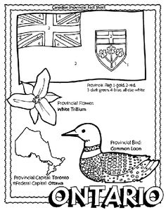Canadian Provinces colouring page with province symbols ...