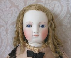 All Original Early Barrois French Fashion Bisque Head Lady Doll