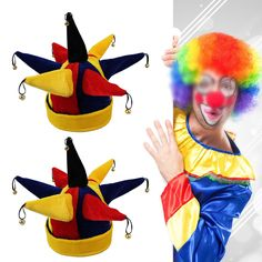 Funny Multicolor Clown Hat