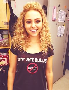 anna sophia robb. Don't date bullies shirt.