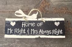 Mr and Mrs Barn Wood Sign Hand Painted Wedding by JunkWorxxEtc, $3.00