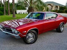 Little Red Chevelle Old Muscle Cars, Chevy Muscle Cars, American Muscle Cars, Chevy Classic, Classic Cars, Sexy Cars, Hot Cars, Austin Martin, Jaguar