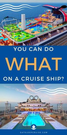 Cruising now features some of the most innovative ships at sea. For the adrenaline junkies, these are the 12 Most Thrilling Things to Do on a Cruise Ship! #cruise #cruiseships #thingstodo #cruiseideas #eatsleepcruise Honeymoon Cruise, Cruise Travel, Cruise Vacation, Packing List For Cruise, Cruise Tips, Caribbean Cruise Ships, Cruise Theme Parties, Cruise Ship Pictures, Navigator Of The Seas