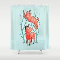 Winter Fox Shower Curtain by Freeminds - $68.00