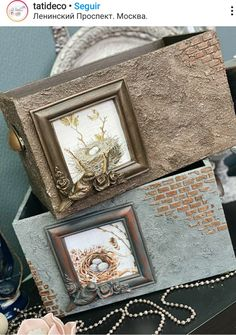 Crafts To Do, Wood Crafts, Paper Crafts, Name Plate Design, Diy Plaster, Eco Furniture, Decoupage Box, Fabric Journals, Sculpture Painting