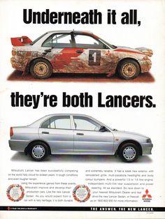 Mitsubishi Motors, Car Brochure, Mitsubishi Lancer Evolution, Japan Cars, Car Advertising, Rally Car, Jdm Cars, Body Kits, Car Stickers