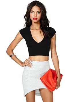 Nasty Gal Deep Into The Night Crop Top | Shop Clothes at Nasty Gal