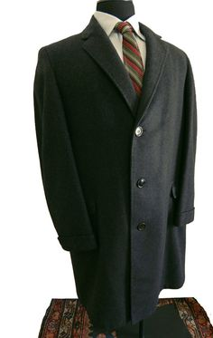 RSVD for B...Vintage 1960's Mens Topcoat Wool Hopsack Coat Ivy ...
