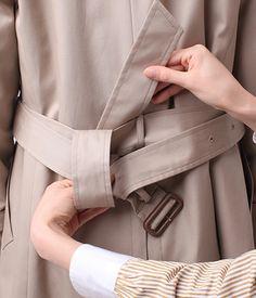 コートのベルトの結び方 ファッション通販のNY.online