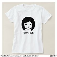 Word in Karankawa: ashadee and a woman face T-Shirt - simple clear clean design style unique diy Simple Shirts, Direct To Garment Printer, Woman Face, Wardrobe Staples, Shirt Style, Fitness Models, Mens Tops, Clean Design, Shirts