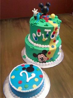 Mickey Mouse Clubhouse- thinking this theme for birthday #2 :)