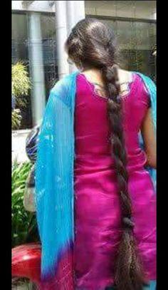 braid ℳanmathan November 23 2018 at Cool Hairstyles For Girls, Slick Hairstyles, Braided Hairstyles, School Hairstyles, Beautiful Girl Indian, Beautiful Long Hair, Gorgeous Hair, Long Indian Hair, Long Hair Video