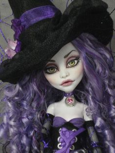 ~ Andora ~ OOAK Monster High Spectra Vondergeist Repaint ~ by Bordello ~