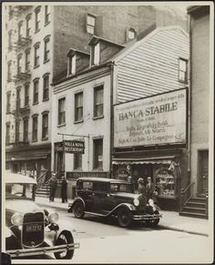 149 Mulberry Street, near Grand Street. Banco Stabile which is off-picture to the right is the home of the Italian American Museum today. (Courtesy Museum of the City of New York) Fine Art Prints, Framed Prints, Canvas Prints, San Gennaro, Mulberry Street, Brick Facade, Lower East Side, Little Italy, Poster Size Prints