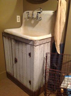 Love the cabinet & sink together...
