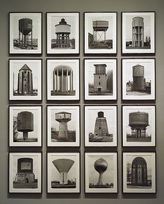 Hilla Becher and Bernd Becher: Watertowers (1980.1074.1-.16) | Heilbrunn Timeline of Art History | The Metropolitan Museum of Art