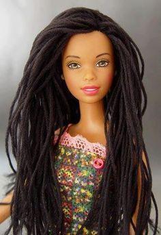 Matel doll w/locs....Gorgeous
