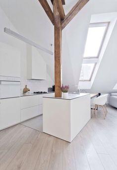 Dachboden Renovierung, Moderne Küchen, Haus Küchen, Dachgeschosse, Weiße  Wale, Skandinavisches Design, Kücheneinrichtung, Innenarchitektur, Deko  Ideen, ...
