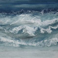 "Saatchi Art Artist Martine Vanderspuy; Painting, ""Sea Horses"" #art"