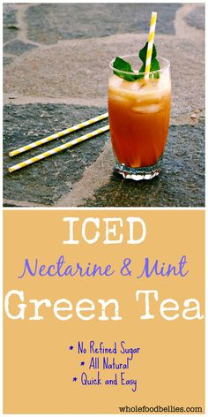 Cold Brew Iced Nectarine and Mint Green Tea