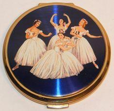 Antique Vintage Stratton Ballet Dancing Powder Compact...LOVE THIS