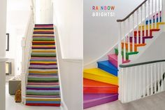 Eight Colourful Staircase Design & DIY Ideas - Bright Bazaar by Will Taylor