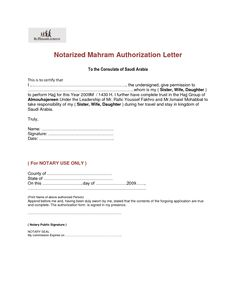 Authorization Letter Format Notarized Field Trip Permission Parents Jos Gandos Coloring Pages