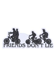 Stranger Things Friends Don't Lie Iron-On Patch,