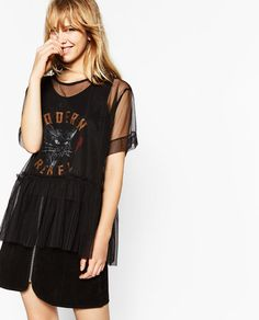Image 1 of TULLE TIGER T-SHIRT from Zara