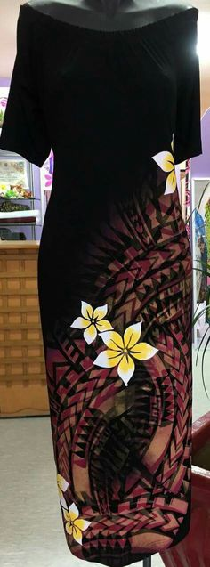 Karas where to buy dress? Samoan Designs, Polynesian Designs, Ethnic Fashion, Curvy Fashion, Polynesian Dresses, Island Wedding Dresses, Samoan Dress, Island Style Clothing, Hawaiian Fashion