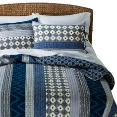 Mudhut™ Dhurrie Quilt Set, Target.  Deep colors, dog-proof, washing machine friendly.  Whoot!