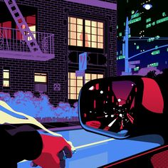 Fluorescent Nightlife :: Vizie's New Prints Explore a Noir City in Full Color | The Hundreds
