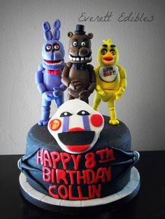 5 Nights At Freddy's Cake 4-2015 | Flickr - Photo Sharing! Five Nights At Freddy's Birthday Cake Freddy Bonnie Chica