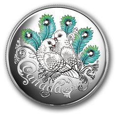 Fine Silver Coin made with Swarovski® crystals - Celebration of Love - Mintage: Swarovski Crystals Price, Romans Bible, Canadian Coins, Canadian History, Coin Design, Silver Bullion, Commemorative Coins, Rare Coins, Canadian Artists