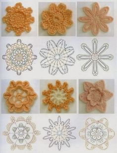 Elizabeth Christianini uploaded this image to 'Croche/FLORES CROCHET'. See the album on Photobucket. Flowers With Graphs free crochet graph pattern Crochet Flower with open center. Photo by erchristianini Crochet Diy, Freeform Crochet, Crochet Diagram, Crochet Chart, Love Crochet, Irish Crochet, Crochet Motif, Beautiful Crochet, Crochet Doilies