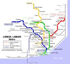 cool Portugal Subway Map