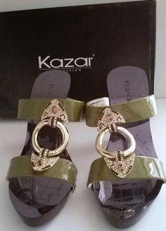 Kup mój przedmiot na #vintedpl http://www.vinted.pl/damskie-obuwie/klapki-chodaki-drewniaki/4513646-kazar-sliczne-eleganckie-r-36-sanadlki-na-obcasie
