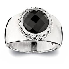Elle Jewelry Sterling Silver Black Agate Faceted Ringhttp://www.bengarelick.com/collections/elle-jewelry/products/elle-jewelry-sterling-silver-black-agate-faceted-ring$210.00
