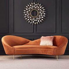 Gebogenes Sofa, Upholstered Sofa, 3 Seater Sofa, Sofa Furniture, Sofa Set, Living Room Furniture, Sectional Sofas, Luxury Chairs, Luxury Sofa