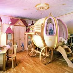 Epic little girls room! I Wish I had seen this before we moved in I so woulda tried it for my princess!