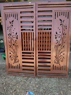 Iron Main Gate Design, Gate Wall Design, Grill Gate Design, House Main Gates Design, Front Gate Design, Window Grill Design, House Front Design, Steel Railing Design, Balcony Railing Design
