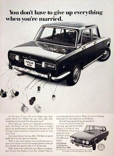 1970 Alfa Romeo 1750 Berlina Ad #vintageads