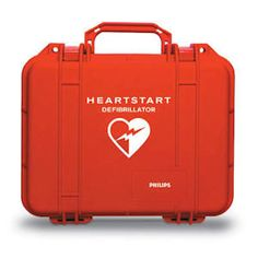 """Rugged, hard-sided, watertight carry case protects Philips AED in the most rugged and adverse conditions. Designed to fit the Philips HeartStart OnSite and FRx models. Inside, die cut foam inserts fit extra electrode pads and battery.   Dimensions: 14""""W x 12""""H x 6""""D"""
