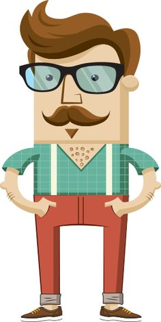 Hipster character illustration with hipster elements on Behance Hipster Illustration, Flat Design Illustration, Character Illustration, Digital Illustration, Manga Illustration, Web Design, Character Concept, Character Art, Estilo Hipster